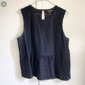 Banana Republic black crochet top